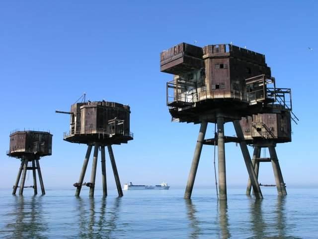Mini forts Sealand Royaume Uni