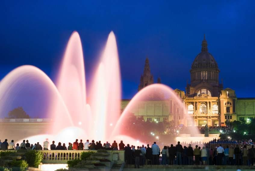 Plus beaux endroits Barcelone - Fontaines de Montjuic
